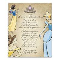 Disney® Princess Fashionista Poem Canvas Wall Art