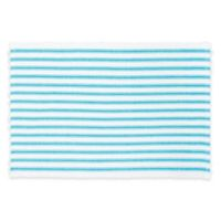 C&F Home Ticking Stripe Placemats in Turquoise (Set of 4)