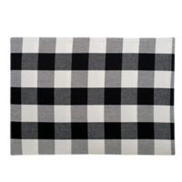 C&F Home Buffalo Checkered Placemats in Black (Set of 4)