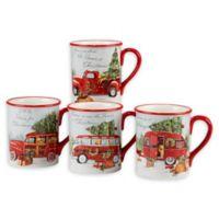 Certified International Home for Christmas Susan Winget Mugs (Set of 4)