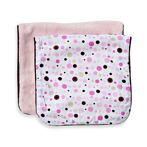 Caden Lane® Classic Dot Line 2-Pack Burp Cloths in Pink