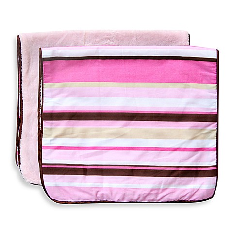 Caden Lane® Classic Stripe 2-Pack Burp Cloths in Pink
