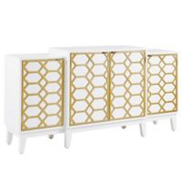 Madison Park Maria Dining Buffet in Gold/White