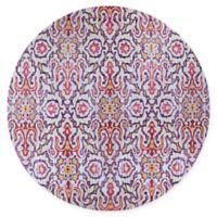 Couristan® Xanadu Puebla 7'2 Round Accent Rug in Purple