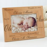 New Arrival Personalized 4-Inch x 6-Inch Baby Frame