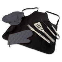BBQ Tote Pro Apron in Black with Tools