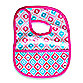 Caden Lane® Mod/Diamond Reversible Coated Bib in Pink