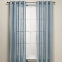 B. Smith Origami Grommet 84-Inch Window Curtain Panel in Blue