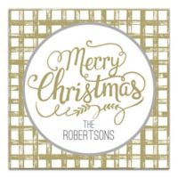 Designs Direct Merry Christmas Script 16-Inch Square Canvas Wall Art
