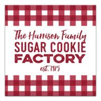 "Designs Direct ""Cookie Factory"" 20-Inch Square Canvas Wall Art"