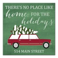 "Designs Direct ""No Place Like Home for the Holidays"" 20-Inch Square Canvas Wall Art"