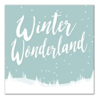 "Designs Direct ""Winter Wonderland"" 16-Inch Square Canvas Wall Art"
