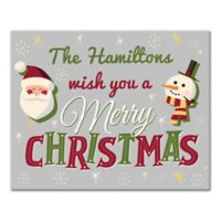 "Designs Direct ""We Wish You a Merry Christmas"" 16-Inch x 20-Inch Canvas Wall Art"