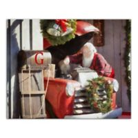 """Designs Direct """"Santa with Sled"""" 16-Inch x 20-Inch Canvas Wall Art"""