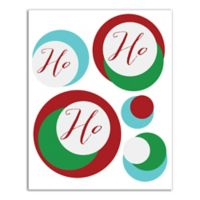 "Designs Direct ""Ho Ho Ho"" 16-Inch x 20-Inch Canvas Wall Art"