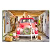 "Designs Direct ""Vintage Christmas Truck"" 12-Inch x 18-Inch Canvas Wall Art"