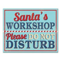 "Designs Direct ""Santa's Workshop"" 16-Inch x 20-Inch Canvas Wall Art"
