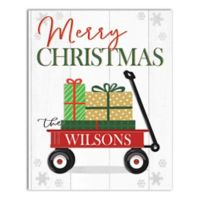 """Designs Direct """"Merry Christmas Sled"""" 16-Inch x 20-Inch Canvas Wall Art"""