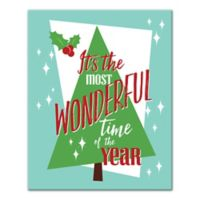 """Designs Direct """"Most Wonderful Time Of The Year"""" 16-Inch x 20-Inch Canvas Wall Art"""