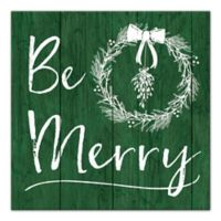 Designs Direct Be Merry Canvas Wall Art in Green
