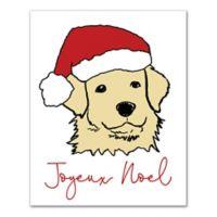 Designs Direct Joyeux Noel 16-Inch x 20-Inch Canvas Wall Art in Red
