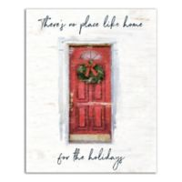 Designs Direct Home for the Holidays 16-Inch x 20-Inch Canvas Wall Art in Red