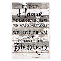 "Sweet Bird & Co. ""In Our Home"" 12-Inch x 18-Inch Reclaimed Wood Wall Art"