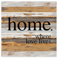 """Sweet Bird & Co. 30-Inch Square """"Where Love Lives"""" Wood Wall Art"""