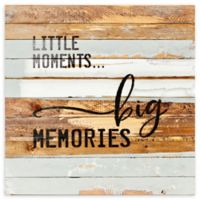 """Sweet Bird & Co. 30-Inch Square """"Little Moments Big Memories"""" Wood Wall Art"""