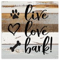 Sweet Bird & Co. Live Love Bark Reclaimed Wood Wall Art