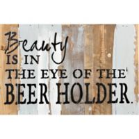 Eye of Beer Holder Reclaimed Wood Wall Art
