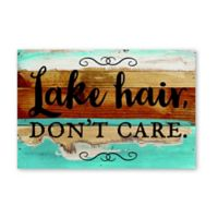 Sweet Bird & Co. Lake Hair Don't Care Reclaimed Wood Wall Art