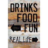 Sweet Bird & Co. Drinks Food Fun Reclaimed Wood Wall Art