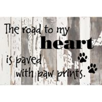 Sweet Bird & Co. The Road To My Heart 18-Inch x 12-Inch Reclaimed Wood Wall Art