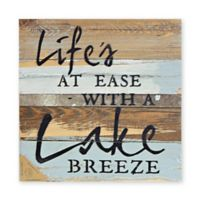 Sweet Bird & Co. Lake Breeze 12-Inch Reclaimed Wood Wall Art