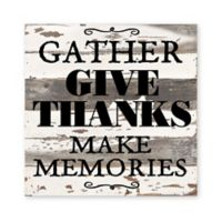 Sweet Bird & Co. Gather and Give Thanks 12-Inch Reclaimed Wood Wall Art