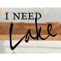 "Sweet Bird & Co ""I Need Lake "" Wood Wall Art in Blue/Grey"