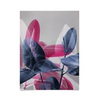 Deny Designs Emanuela Carratoni Shadow Leaves 18-Inch x 24-Inch Poster Wall Art in Grey