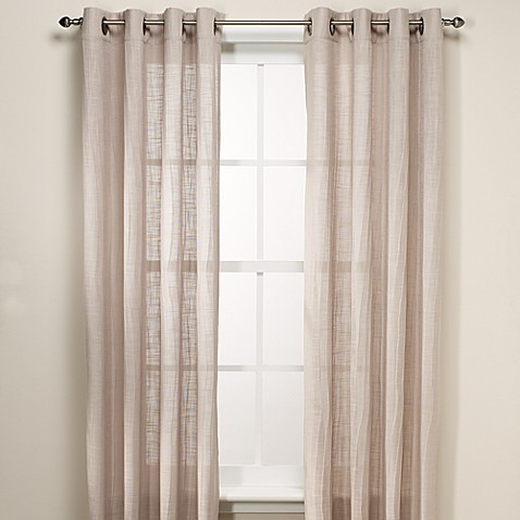 Buy B Smith Origami Grommet 108 Inch Window Curtain Panel In Taupe From Bed Bath Beyond