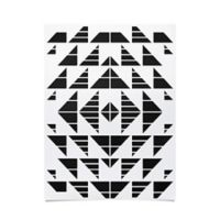 Deny Designs Gneural Neu Tribal 18-Inch x 24-Inch Poster in Black