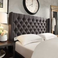 Verona Home Hatton Hill On Tufted Wingback Full Headboard In Dark Grey