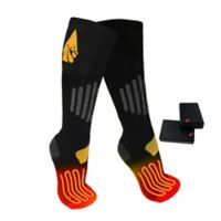 ActionHeat™ Unisex Small/Medium AA Battery Heated Socks in Black/Yellow