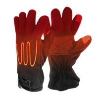 ActionHeat™ One Size AA Battery Heated Fleece Gloves in Black