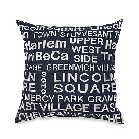 Bed Bath And Beyond Blue Throw Pillows : Neighborhood Blue Jeans Throw Pillow - Bed Bath & Beyond