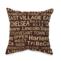 Neighborhood Brownstone Throw Pillow