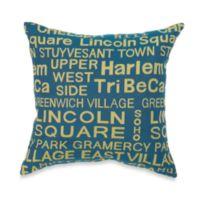 Neighborhood Hudson Throw Pillow