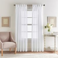 Spellbound 63-Inch Pinch-Pleat Window Curtain Panel in White
