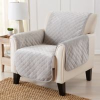 Velvet Accent Chair Furniture Protector Cover in Grey