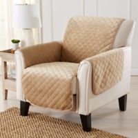 Velvet Accent Chair Furniture Protector Cover in Sand