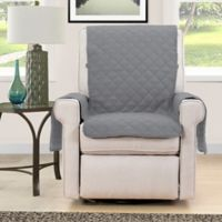 Morgan Home Microfiber Reversible Chair Protector in Grey/Navy